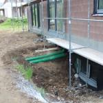 nicht fachgerecht verlegte Schmutzwasserleitungen