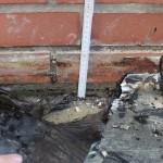 Dachterrasse, Abdichtung vor dem Ziegelmauerwerk und nicht ausreichen hochgeführt