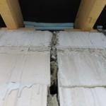 Haustrennfuge, Körperschallbrücke im Deckenbereich