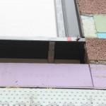 Fensterbank, Materialmix im rissgefährdeten Bereich