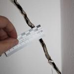 Trennriss infolge der nicht fachgerechten nachträglichen Abfangung einer tragenden Wand im darunterliegenden Geschoss eines Bestandsgebäudes