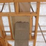 Kaminzug starr mit der Dachkonstruktion verbunden