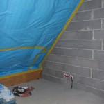 Verklebung der Luftdichtheitsschicht am Mauerwerk mit nicht zugelassenen Klebebändern