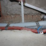 oberseitig gestemmte Schlitze für Leitungskreuzung an einem Deckenauflager