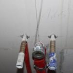 Warm- und Kaltwasserleitungen ohne schallentkoppelte Befestigung